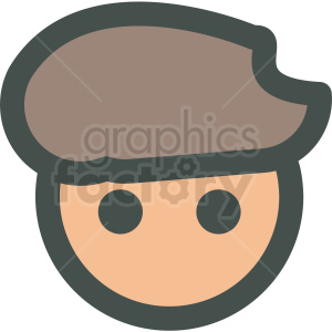 guy wearing beret hat avatar vector icons