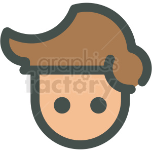 avatar with brown hair vector icons clipart. Royalty-free image # 406787