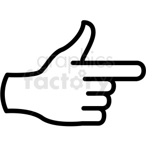hand gun gesture vector icon clipart. Commercial use image # 406831