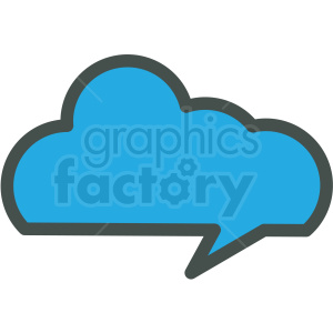 cloud data vector icon clipart. Commercial use image # 406847