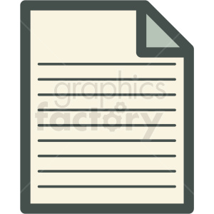 paper files vector icon clipart. Commercial use image # 406855