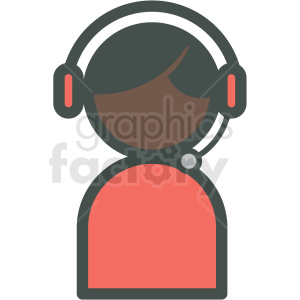 african american tech support vector icon