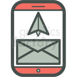 email inbox smart device vector icon clipart. Commercial use image # 406914