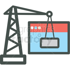under construction website hosting vector icons clipart. Royalty-free image # 406923