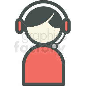tech support vector icon clipart. Royalty-free image # 406948
