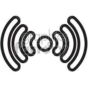 wireless signal vector icon clipart. Royalty-free image # 398640
