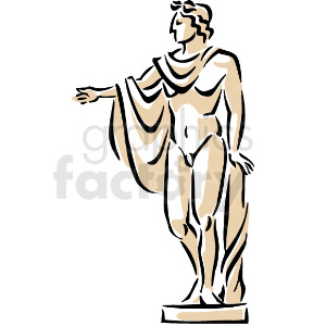 A Statue of a Man Puting his Hand Out clipart. Royalty-free image # 156296