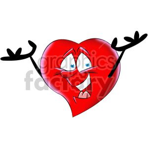 happy cartoon heart character clipart. Royalty-free image # 406996