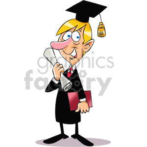 cartoon guy graduating life step 3
