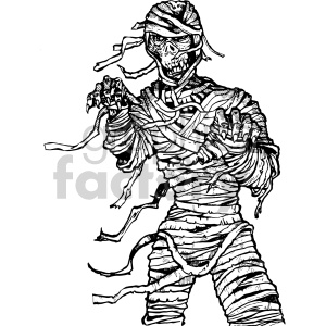 mummy skeleton illustration clipart. Commercial use image # 407043