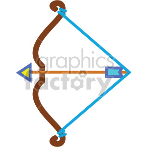 bow and arrow vector icons clipart. Royalty-free image # 407100