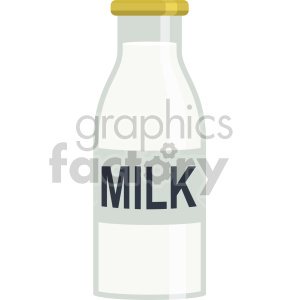 glass milk bottle flat icons clipart. Commercial use image # 407130
