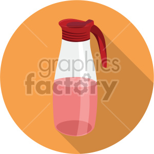 beverage container on circle background flat icons clipart. Royalty-free image # 407136