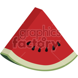 watermelon slice flat icon clip art clipart. Royalty-free icon # 407142