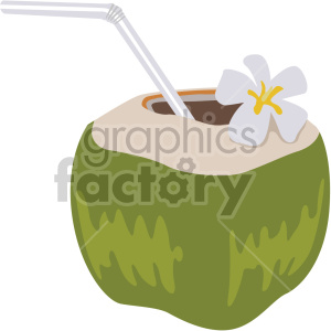 coconut water flat icons clipart. Royalty-free icon # 407164
