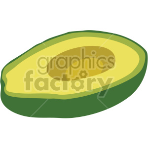 sliced avocado flat icon clip art clipart. Royalty-free icon # 407168