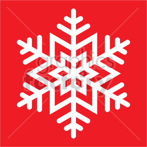 winter snowflake on red background vector clip art clipart. Royalty-free image # 407199