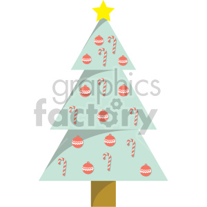 christmas tree clipart clipart. Royalty-free image # 407257