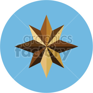 christmas north star on blue circle background icon clipart. Commercial use image # 407297