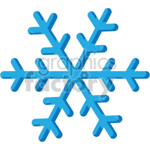 christmas snowflake icon clipart. Royalty-free image # 407303