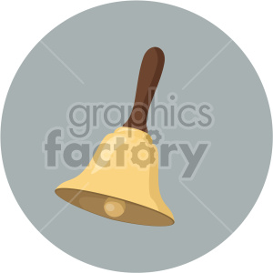 christmas bell on circle background icon clipart. Royalty-free image # 407317