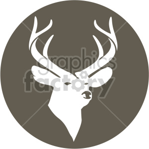 christmas reindeer on brown circle background icon clipart. Commercial use image # 407326