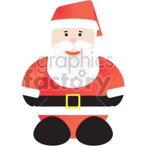 christmas santa cartoon clipart. Commercial use image # 407364