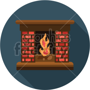 fireplace on blue background clipart. Commercial use image # 407394