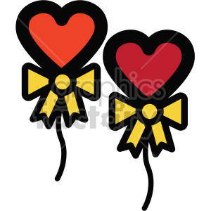 heart balloons icon for valentines day clipart. Royalty-free icon # 407501