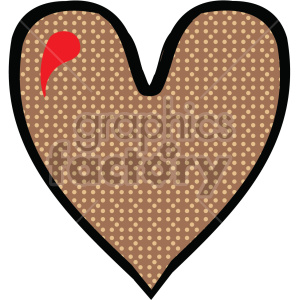 brown heart clipart. Royalty-free image # 407510