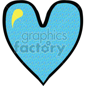 blue heart clipart. Commercial use icon # 407523