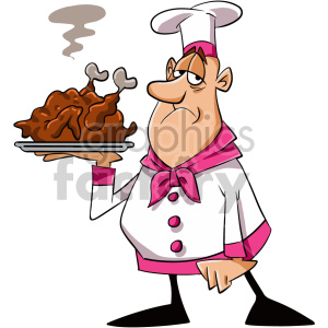 tired chef cartoon character clipart. Commercial use image # 407534