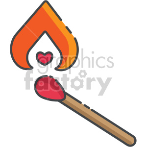 love is like a burning match clipart. Commercial use image # 407556
