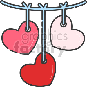 heart baby mobile clipart. Royalty-free image # 407558
