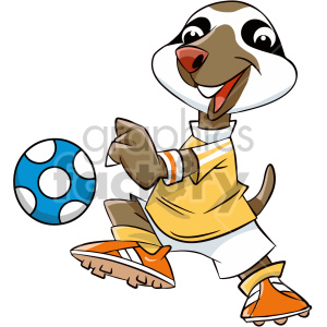 cartoon sloth soccer player clipart. Commercial use image # 407577