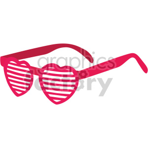 heart glasses of love for valentines clipart. Commercial use image # 407598