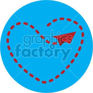 love letter flight pattern for valentines blue background clipart. Royalty-free image # 407620