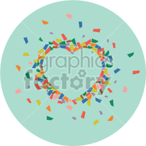 heart confetti on green background clipart. Royalty-free image # 407625