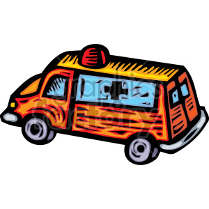 cartoon ambulance clipart. Royalty-free image # 149495