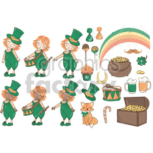st+patricks+day irish horseshoe luck bundle set rainbow treasure