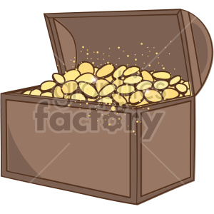 st patricks day treasure chest clipart. Royalty-free image # 407657