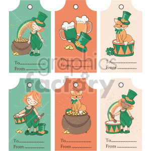 st patricks day tag bundle clipart. Commercial use image # 407659