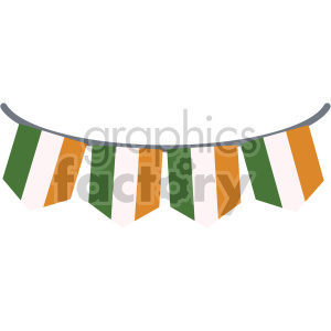 st patricks day irish pride banner no background clipart. Commercial use image # 407678