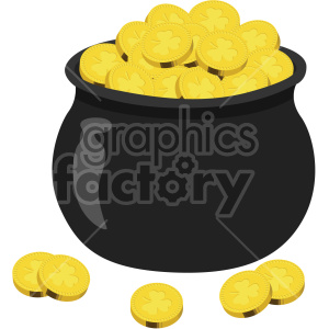 st patricks day pot of gold no background clipart. Royalty-free image # 407684