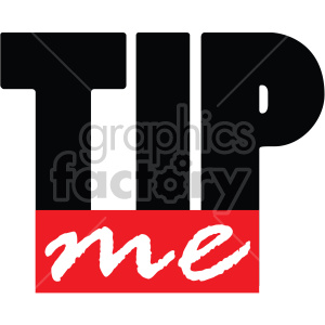tip me text word clipart. Royalty-free image # 407738
