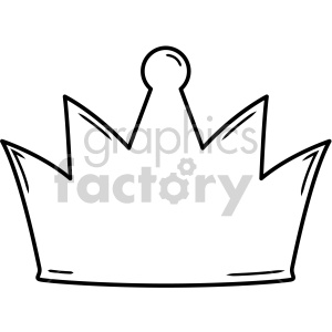 crown outline with highlighs clipart. Royalty-free image # 407779