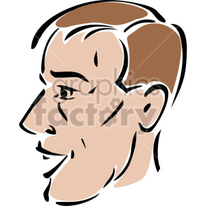 guy's face clipart. Royalty-free image # 157323