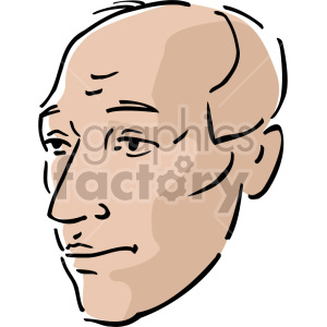 older bald man clipart. Royalty-free image # 157357