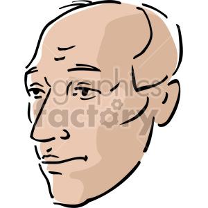 older bald man clipart. Commercial use image # 157357
