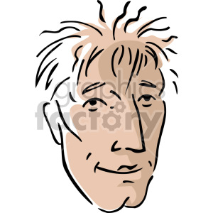 man with messy hair clipart. Royalty-free image # 157361